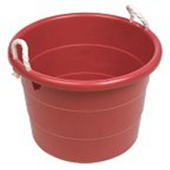 i was thinking about making a pond out of a plastic storage container like this - Rubbermaid Tubs